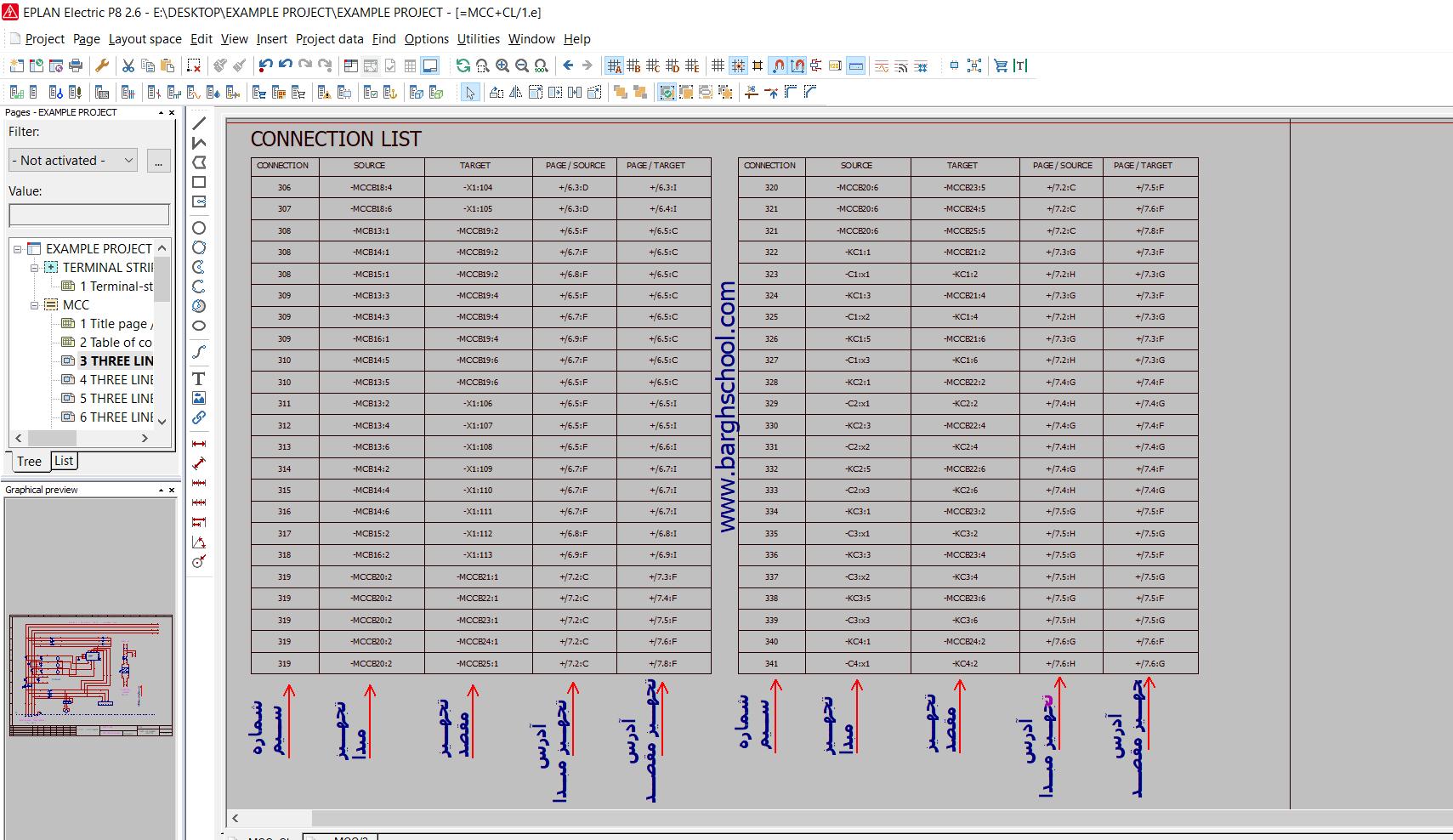 فرم گزارش connection تابلو برق